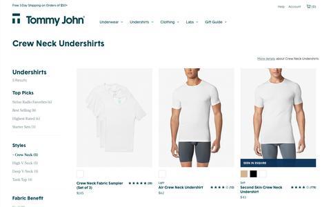 Shop Crew Neck Undershirts Online | Tommy John