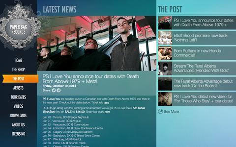 Screenshot of Press Page paperbagrecords.com - Paper Bag Records - captured Oct. 22, 2014