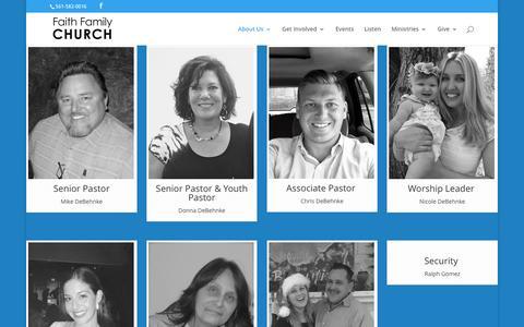 Screenshot of Team Page myffc.tv - Our Team | Faith Family Church - captured Feb. 9, 2016