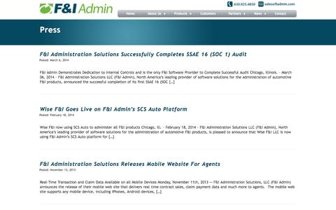 F&I Administration Solutions|Press