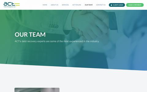 Screenshot of Team Page actcredit.com - ACT - Debt Recovery Experts London - captured Oct. 7, 2017