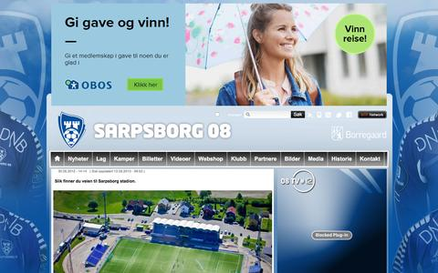 Screenshot of Maps & Directions Page sarpsborg08.no - Veibeskrivelse  | Sarpsborg 08 - captured Dec. 21, 2015