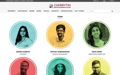 Screenshot of Team Page cherrytin.com - Team - captured May 16, 2017