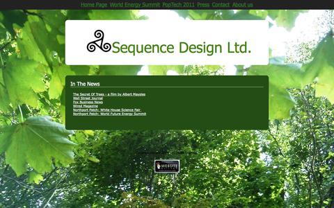 Screenshot of Press Page sequencedesignltd.com - Press - captured Sept. 30, 2014