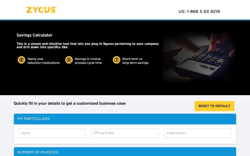 Zycus - Savings Calculator