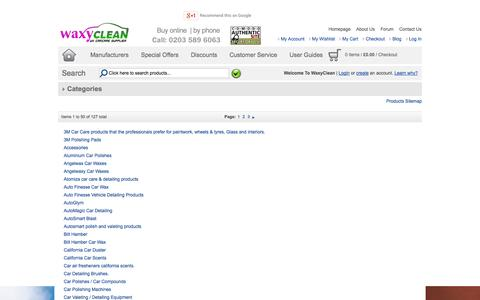 Screenshot of Site Map Page waxyclean.co.uk - Car Detailing  | Car Wax | - captured Sept. 22, 2014