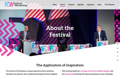 Screenshot of About Page festivalofmarketing.com - About the Festival of Marketing 2018 - captured Oct. 18, 2018