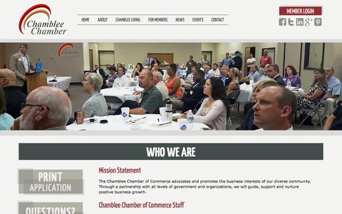 Screenshot of About Page chambleechamber.org - Who We Are   Chamblee Chamber of Commerce - captured Jan. 27, 2016