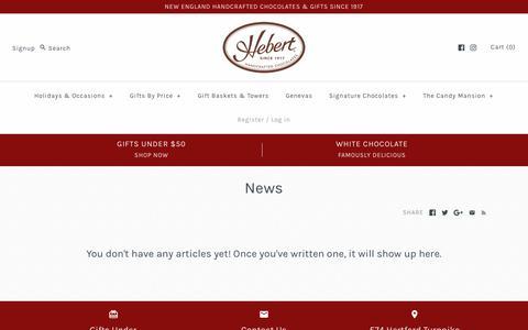 Screenshot of Press Page hebertcandies.com - News – Hebert Candies & Gifts - captured Nov. 4, 2018