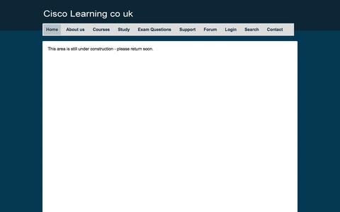 Screenshot of Login Page silverbullet.co.uk - Cisco Learning co uk CBT Courses - captured Oct. 7, 2014
