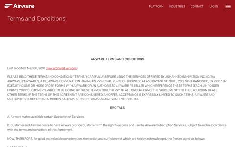 Terms and Conditions - Airware