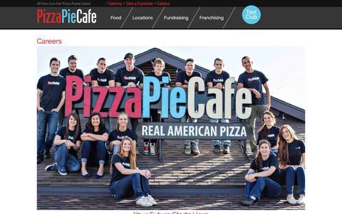Screenshot of Jobs Page pizzapiecafe.co - Careers - Pizza Pie Cafe - captured Jan. 28, 2016