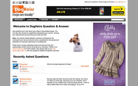 Screenshot of FAQ Page dogheirs.com - DogHeirs helps dogs in your family, dogs in your neighborhood and dogs in need » DogHeirs | Where Dogs Are Family - captured Sept. 19, 2014