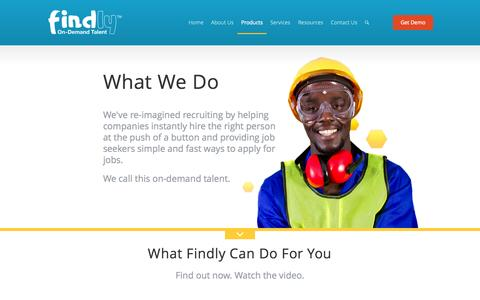 Screenshot of Products Page findly.com - Findly - Findly's Revolutionary Products & Services | Findly - captured Oct. 29, 2014