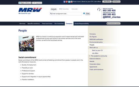 Screenshot of Team Page mrw-transporte.com - MRW - People - captured Sept. 18, 2014