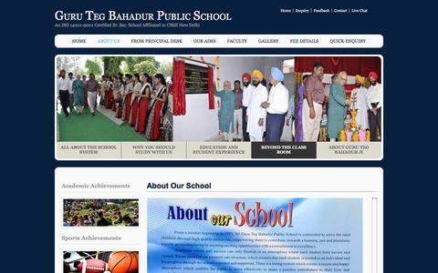Screenshot of About Page gtbps-bardwal-dhuri.com - Guru Teg Bahadur Public School - captured Jan. 21, 2017