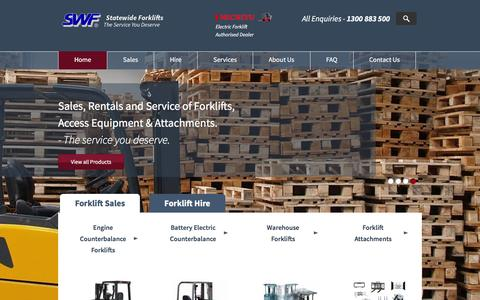 Screenshot of Home Page statewideforklifts.com.au - Forklift Sales, Servicing & Construction Rental - captured Feb. 23, 2016