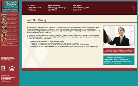 Screenshot of Jobs Page diamondbackrealty.com - Diamondback Realty - captured Oct. 27, 2014