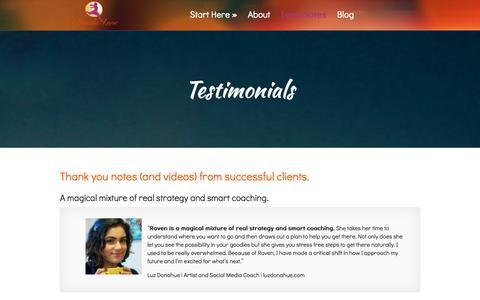 Screenshot of Testimonials Page verandalane.com - Testimonials - Veranda Lane | Veranda Lane - captured Oct. 7, 2014