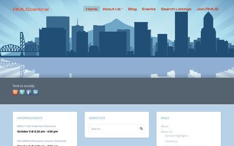 Screenshot of Home Page rmlscentral.com - RMLScentral - captured Oct. 7, 2014