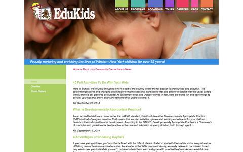 Screenshot of Press Page edukidsinc.com - News - captured Oct. 2, 2014