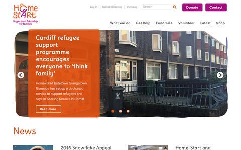 Screenshot of Press Page home-start.org.uk - Home Start | News - captured Nov. 12, 2016