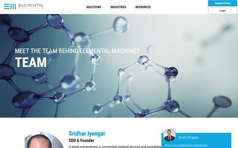 Screenshot of Team Page elementalmachines.io - Team - Elemental Machines - captured Nov. 2, 2018
