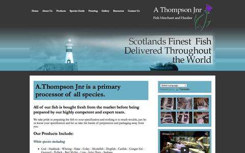Screenshot of Products Page athompsonjnr.com - Products | A Thompson Jnr - captured Sept. 30, 2014