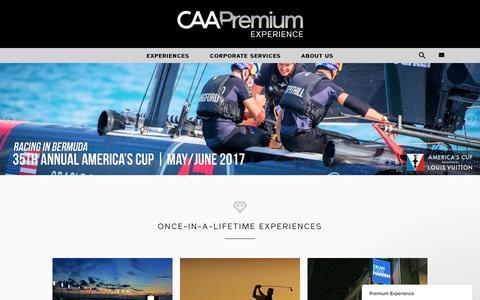 Screenshot of caa.com - Premium Experience says... - captured April 30, 2017