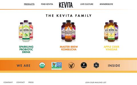 Probiotic Drink Products | KeVita