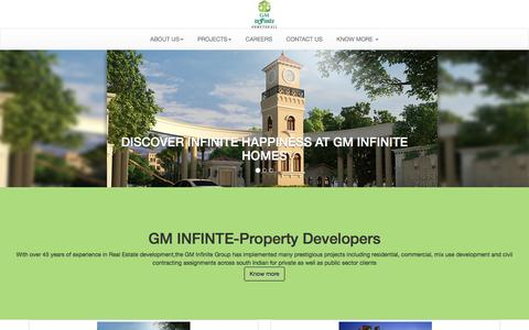 Screenshot of Home Page Privacy Page gminfinite.com - Property developers in Bangalore-GM infinite - captured Jan. 24, 2016