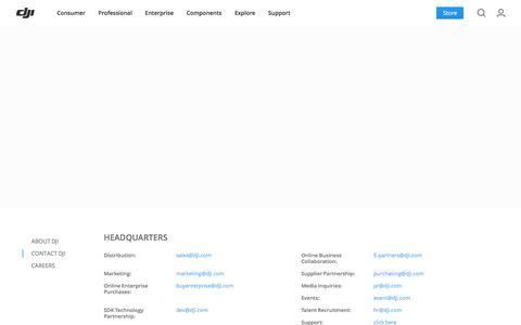 Screenshot of Contact Page dji.com - DJI - Contact Us - captured Nov. 17, 2017