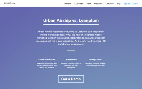 Urban Airship vs. Leanplum: Experience the Difference | Leanplum