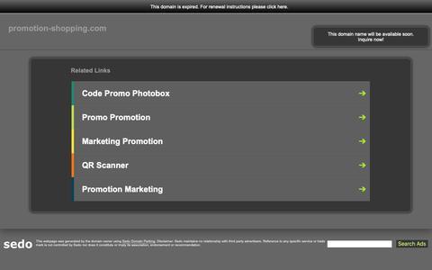 Screenshot of Home Page promotion-shopping.com - promotion-shopping.com-This website is for sale!-promotion-shopping Resources and Information. - captured Nov. 1, 2018