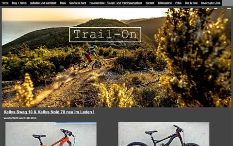 Screenshot of Home Page trail-on.de - Trail-On - TRAIL-ON - captured June 10, 2016