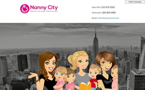 Screenshot of Home Page nannycity.com - Nanny Agency - NannyCity - captured Feb. 27, 2016