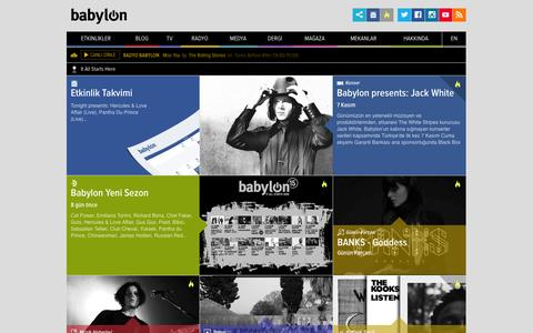 Screenshot of Home Page babylon.com.tr - Babylon | It All Starts Here - captured Sept. 19, 2014