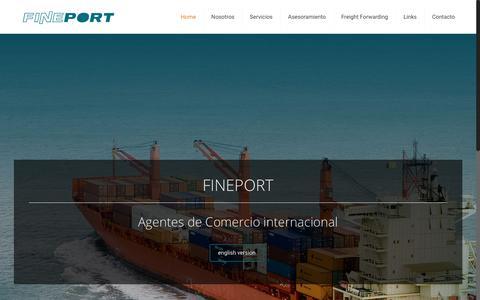 Screenshot of Home Page fineport.com.ar - FINEPORT – Agentes de comercio internacional. - captured Jan. 29, 2017