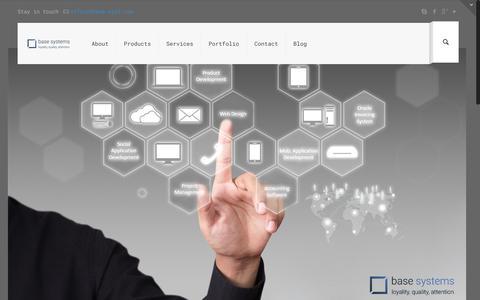 Screenshot of Home Page base-syst.com - base systems ltd. – web development studio - captured Nov. 22, 2016