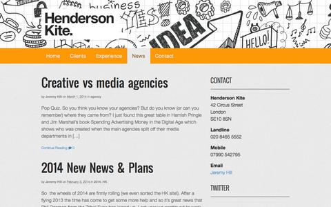 Screenshot of Press Page wpengine.com - News | Henderson Kite - captured Oct. 28, 2014