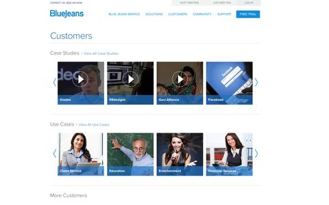 Screenshot of Case Studies Page bluejeans.com - Customer Case Studies | See What our Customers Have to Say - captured Oct. 10, 2014