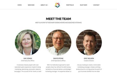 Screenshot of Team Page nikijones.com - Team | Niki Jones Agency - captured Oct. 21, 2017