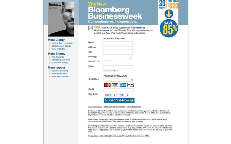 Bloomberg Businessweek | 26 issues for C$20