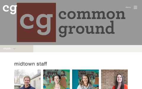 Screenshot of Contact Page cground.org - CG Staff — Common Ground Christian Church - captured Aug. 15, 2017