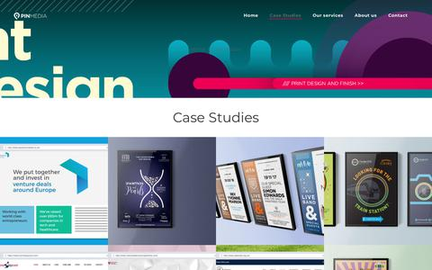 Screenshot of Case Studies Page pinmedia.co.uk - Case Studies - Pin - captured Nov. 4, 2018