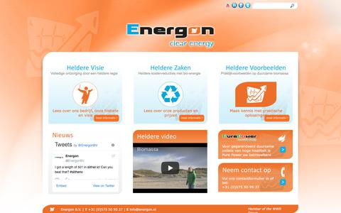 Screenshot of Home Page energon.nl - Home | Energon - captured July 19, 2018