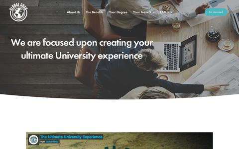 Screenshot of About Page globalgrad.com - About Us – Global Grad - captured July 19, 2018