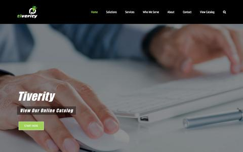 Screenshot of Home Page tiverity.com - Tiverity | Georgia's Technology Experts You Can Trust - captured Sept. 21, 2018