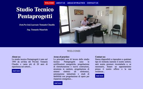 Screenshot of Home Page pentaprogetti.it - ST Pentaprogetti - captured Jan. 26, 2016