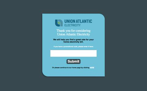 Screenshot of Terms Page unionatlanticelectricity.com - Terms & Conditions | Union Atlantic Electricity - captured Oct. 27, 2014